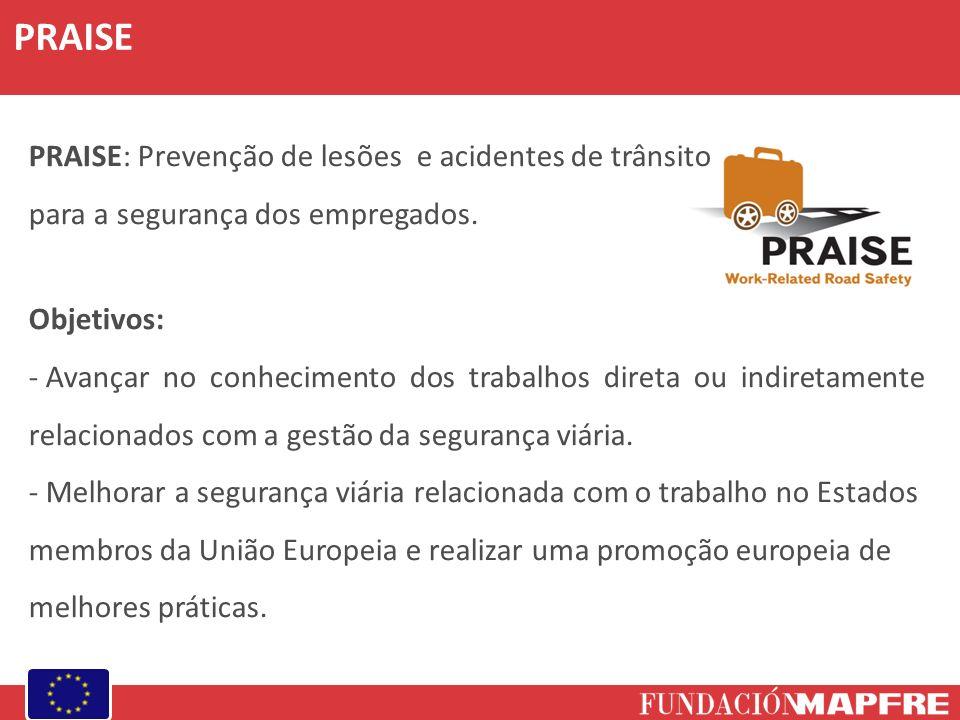 PRAISE PRAISE: Prevenção de lesões e acidentes de trânsito para a segurança dos empregados. Objetivos: - Avançar no conhecimento dos trabalhos direta