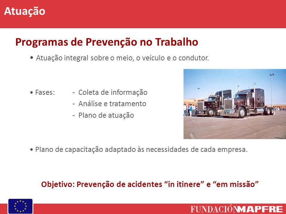 Programas de Prevenção no Trabalho Atuação integral sobre o meio, o veículo e o condutor. Fases: - Coleta de informação - Análise e tratamento - Plano