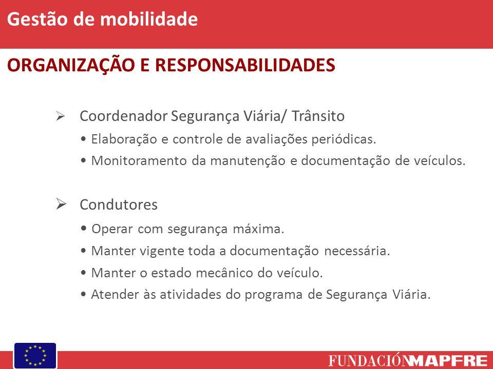 Coordenador Segurança Viária/ Trânsito Elaboração e controle de avaliações periódicas. Monitoramento da manutenção e documentação de veículos. Conduto