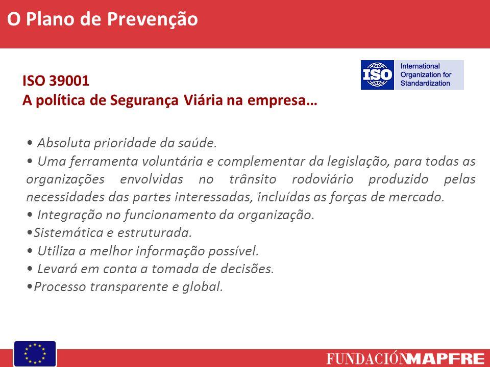CANAL ISO 39001 A política de Segurança Viária na empresa… Absoluta prioridade da saúde. Uma ferramenta voluntária e complementar da legislação, para