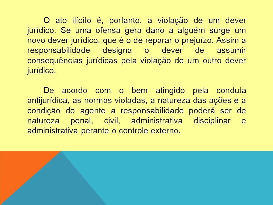 O ato ilícito é, portanto, a violação de um dever jurídico.