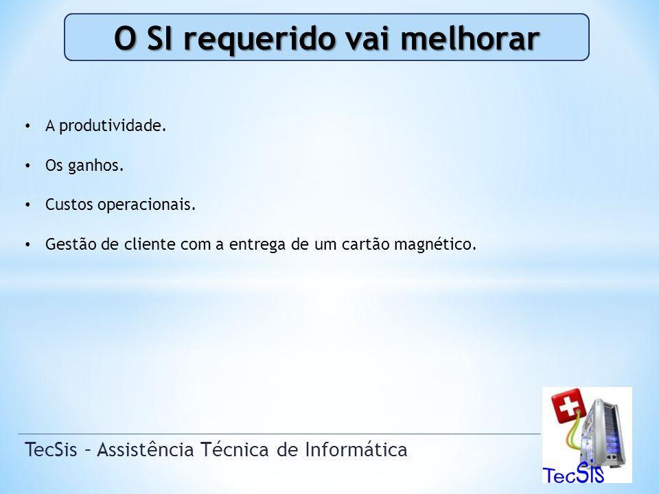 TecSis – Assistência Técnica de Informática A produtividade.