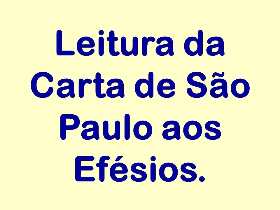 Leitura da Carta de São Paulo aos Efésios.