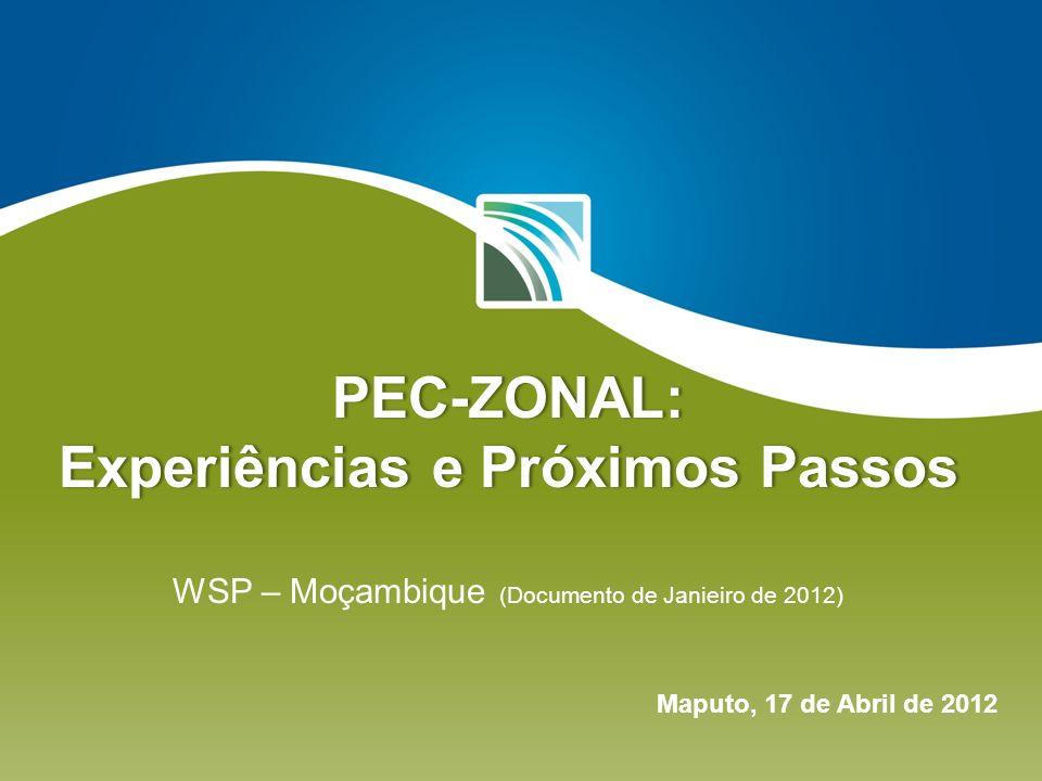PEC-ZONAL: Experiências e Próximos Passos PEC-ZONAL: Experiências e Próximos Passos WSP – Moçambique (Documento de Janieiro de 2012) Maputo, 17 de Abr