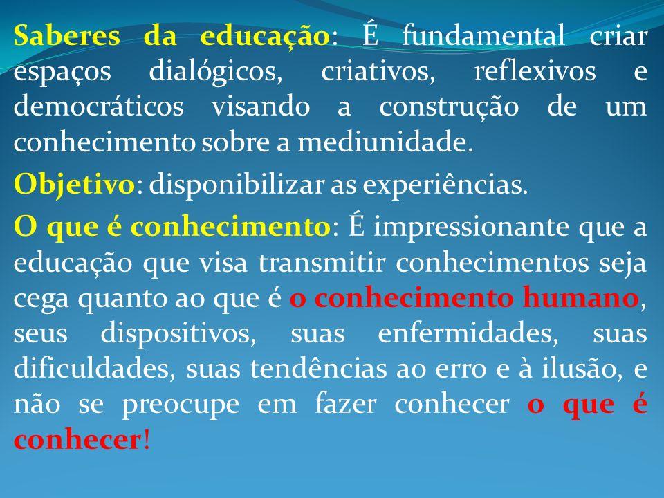 Saberes da educação: É fundamental criar espaços dialógicos, criativos, reflexivos e democráticos visando a construção de um conhecimento sobre a medi