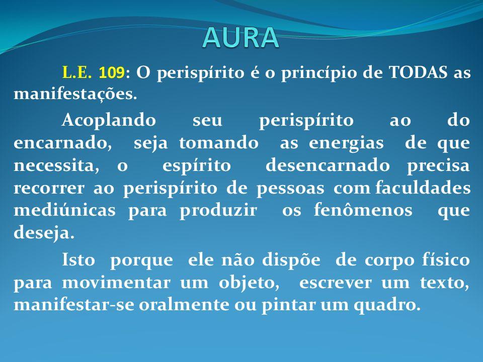 L.E. 109: O perispírito é o princípio de TODAS as manifestações. Acoplando seu perispírito ao do encarnado, seja tomando as energias de que necessita,