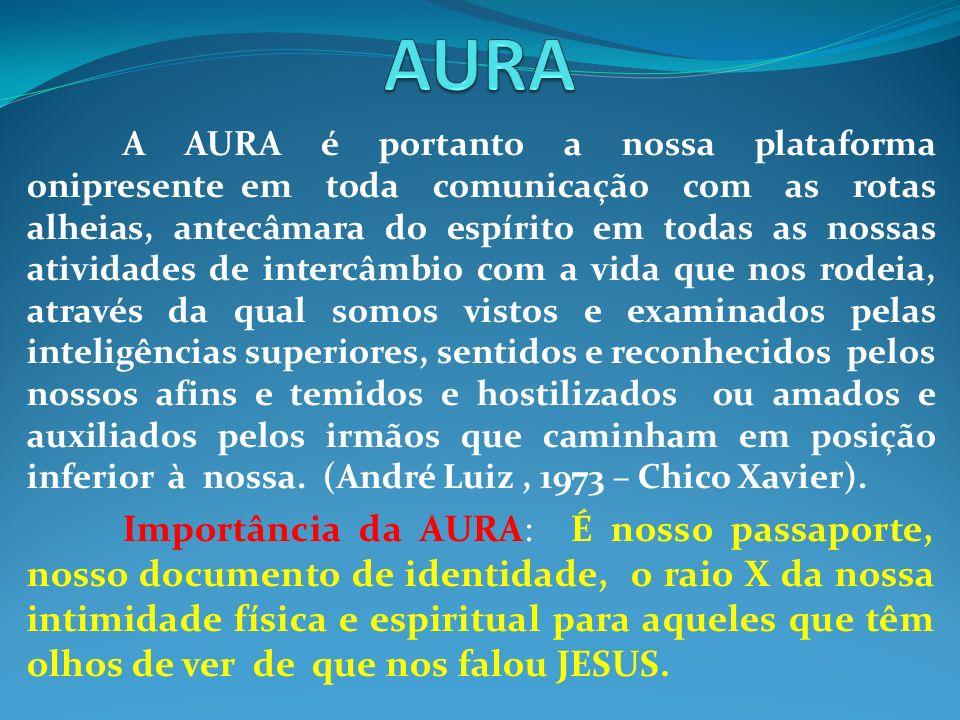 A AURA é portanto a nossa plataforma onipresente em toda comunicação com as rotas alheias, antecâmara do espírito em todas as nossas atividades de int