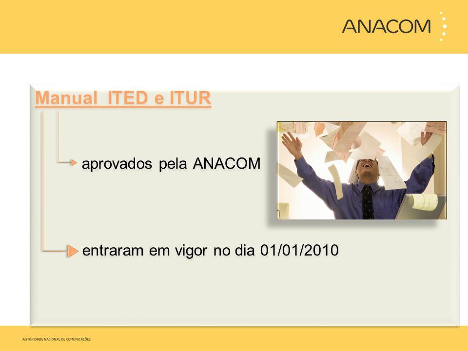Manual ITED e ITUR aprovados pela ANACOM entraram em vigor no dia 01/01/2010 Manual ITED e ITUR aprovados pela ANACOM entraram em vigor no dia 01/01/2