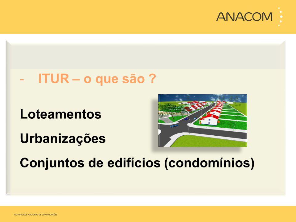 -ITUR – o que são ? Loteamentos Urbanizações Conjuntos de edifícios (condomínios)