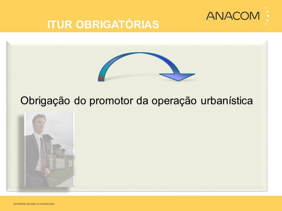 Obrigação do promotor da operação urbanística ITUR OBRIGATÓRIAS