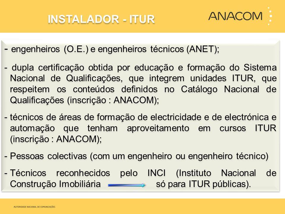 - engenheiros (O.E.) e engenheiros técnicos (ANET); - dupla certificação obtida por educação e formação do Sistema Nacional de Qualificações, que inte