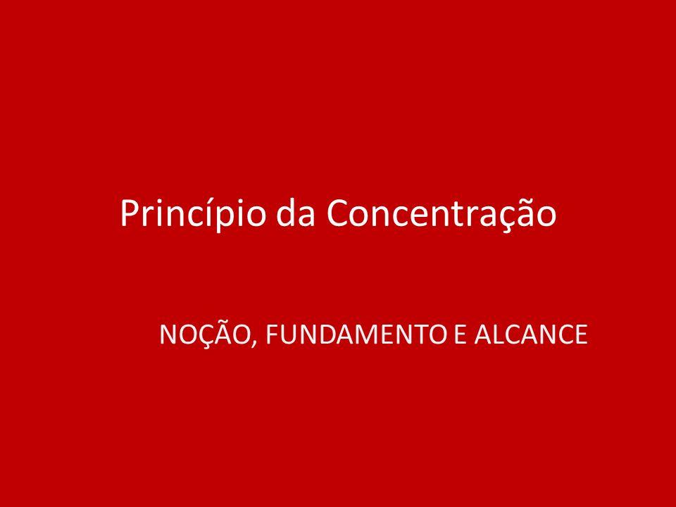 Princípio da Concentração NOÇÃO, FUNDAMENTO E ALCANCE