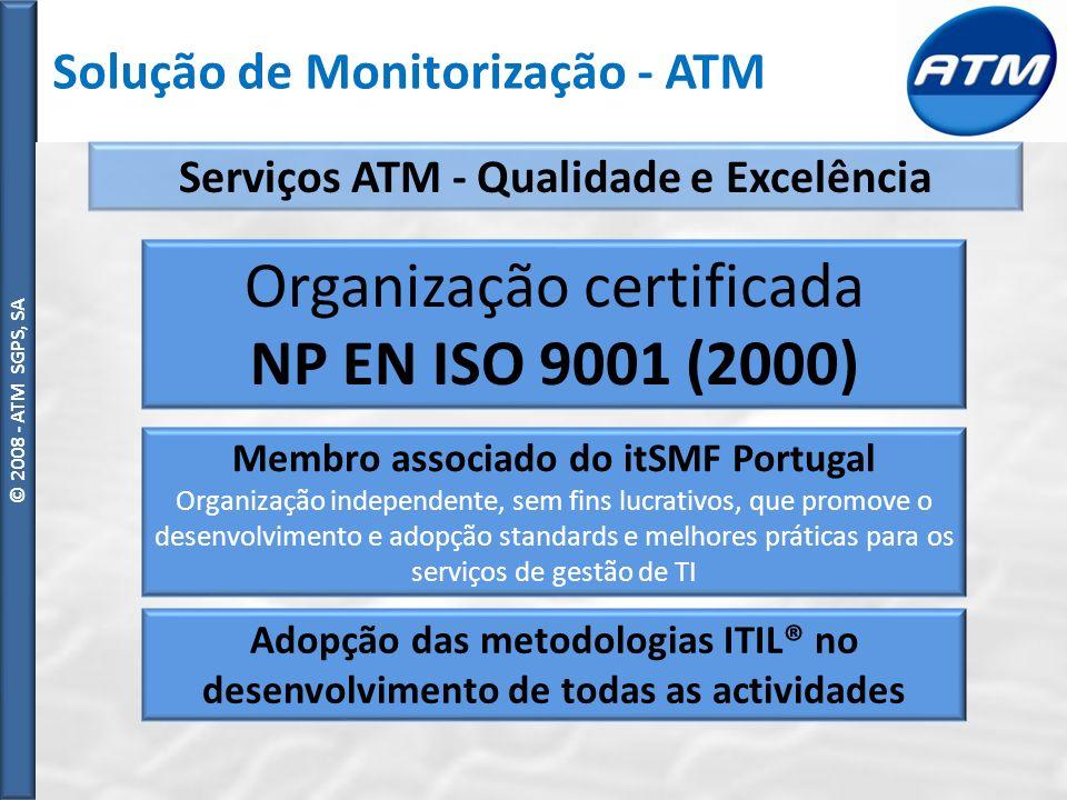 © ATM SGPS, SA © 2008 - ATM SGPS, SA Oferta complementar ATM Suporte Outsourcing – As organizações devem concentrar os seus recurso no seu negócio.