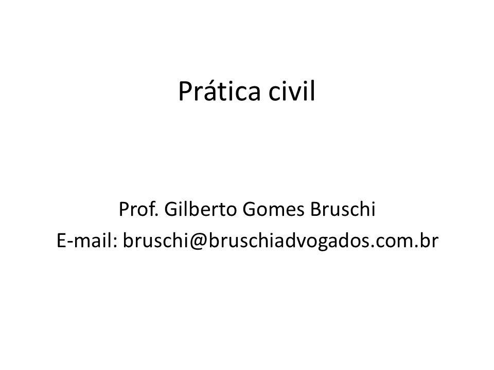 Prática civil Prof. Gilberto Gomes Bruschi E-mail: bruschi@bruschiadvogados.com.br