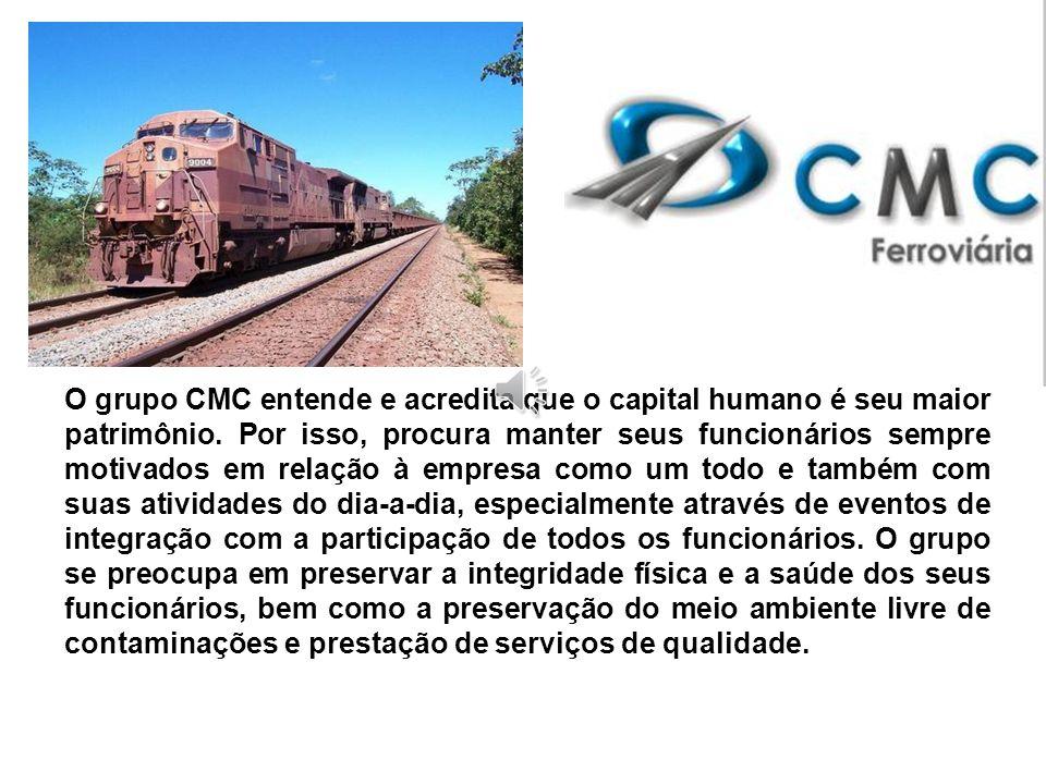 A CMC é uma empresa que trabalha com prestação de serviços no ramo ferroviário e industrial nas categorias mecânica, solda, hidráulica, eletrônica, ca