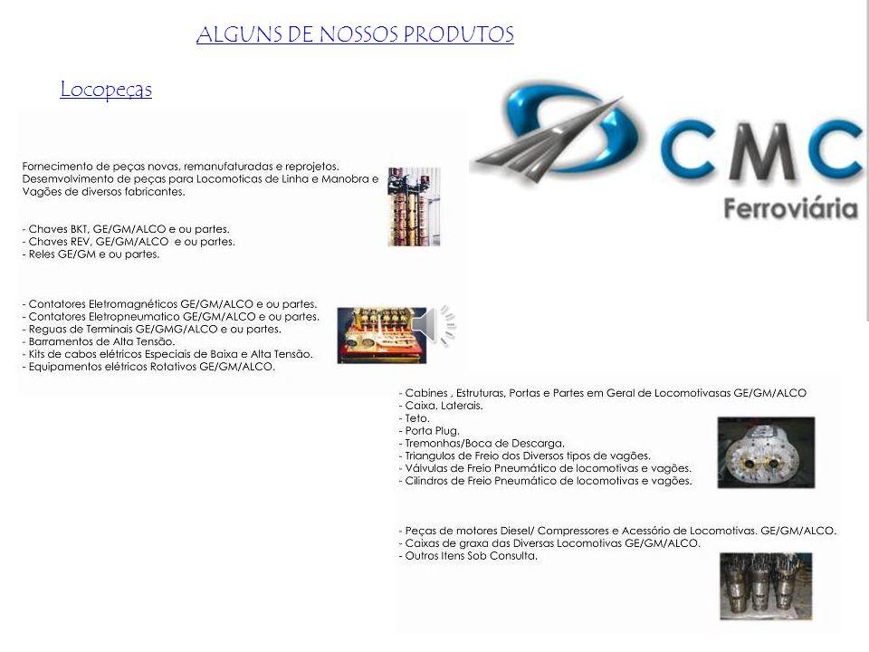 Locomotivas de Manobras:. Plataforma e cabines. Acessórios mecânicos. Sistema e equipamentos pneumáticos Sistema e equipamentos elétrico estacionários