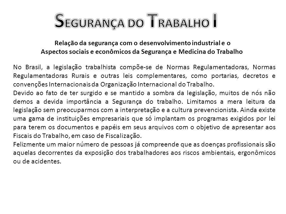 No Brasil, a legislação trabalhista compõe-se de Normas Regulamentadoras, Normas Regulamentadoras Rurais e outras leis complementares, como portarias,
