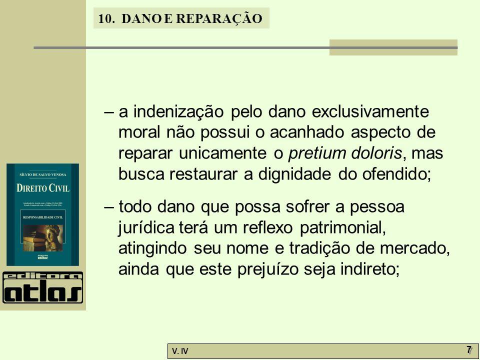 10.DANO E REPARAÇÃO V. IV 28 – quanto à injúria e calúnia, o art.