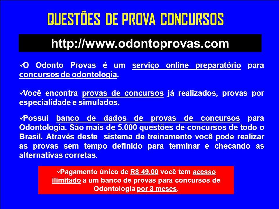 O Odonto Provas é um serviço online preparatório para concursos de odontologia. Você encontra provas de concursos já realizados, provas por especialid