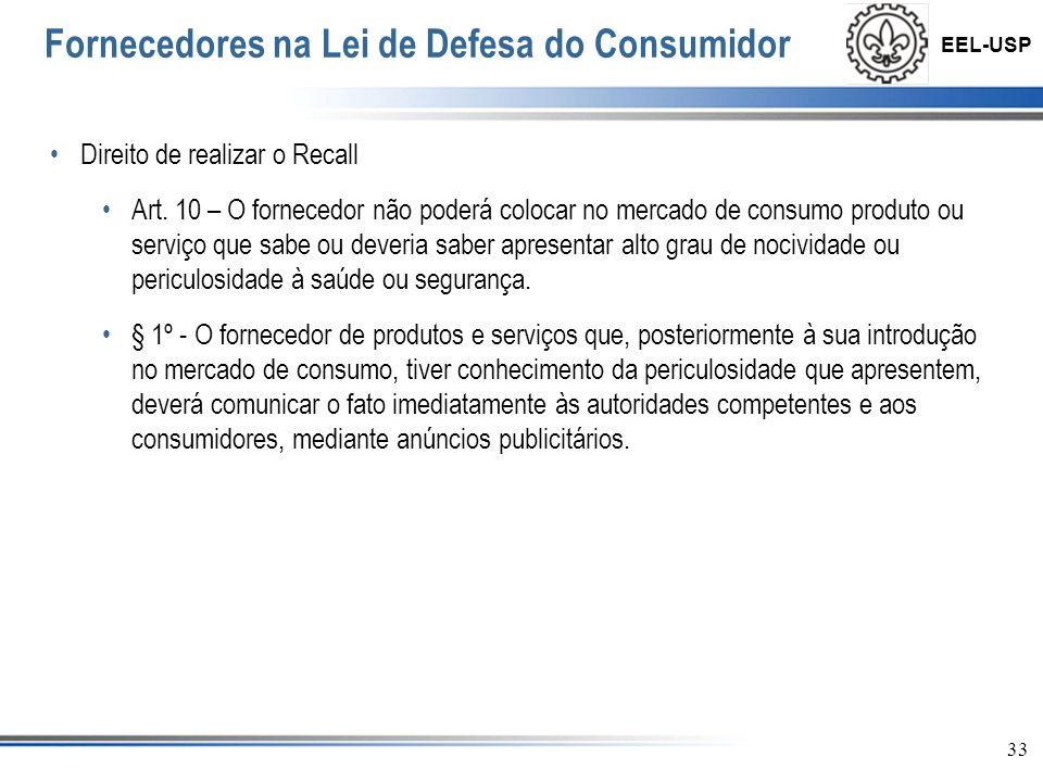 EEL-USP 34 Conclusão O código de defesa veio para regulamentar o comércio de forma a equilibrar a relação entre quem vende e quem compra.