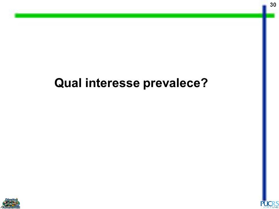 30 Qual interesse prevalece?
