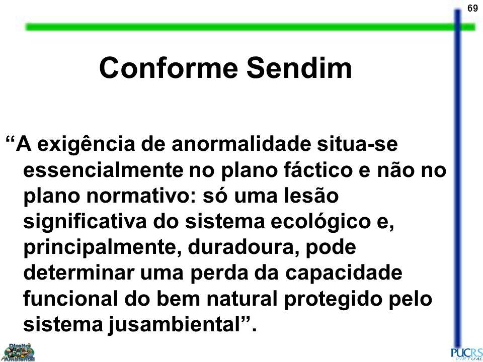 69 Conforme Sendim A exigência de anormalidade situa-se essencialmente no plano fáctico e não no plano normativo: só uma lesão significativa do sistem