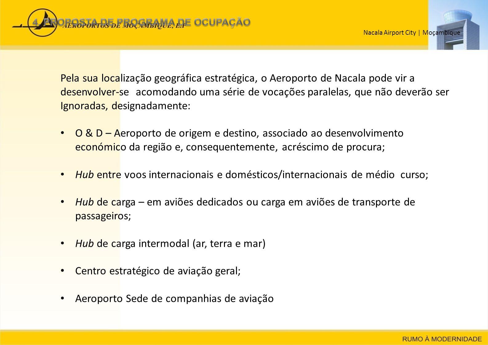 Nacala Airport City   Moçambique Pela sua localização geográfica estratégica, o Aeroporto de Nacala pode vir a desenvolver-se acomodando uma série de