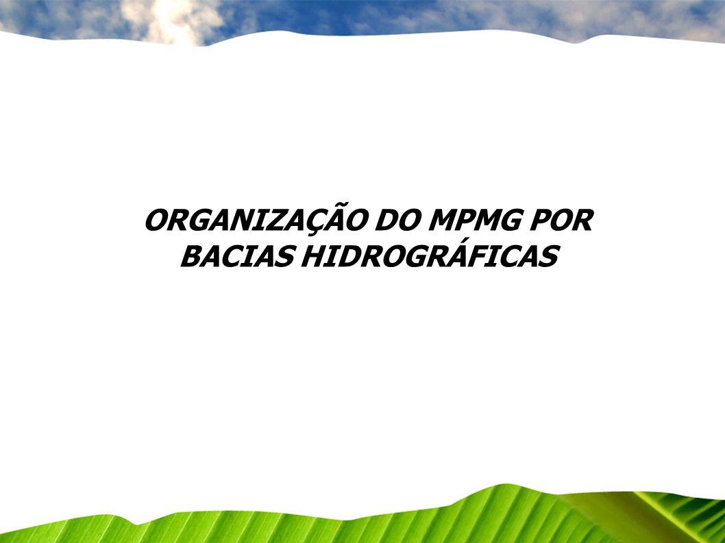ORGANIZAÇÃO DO MPMG POR BACIAS HIDROGRÁFICAS