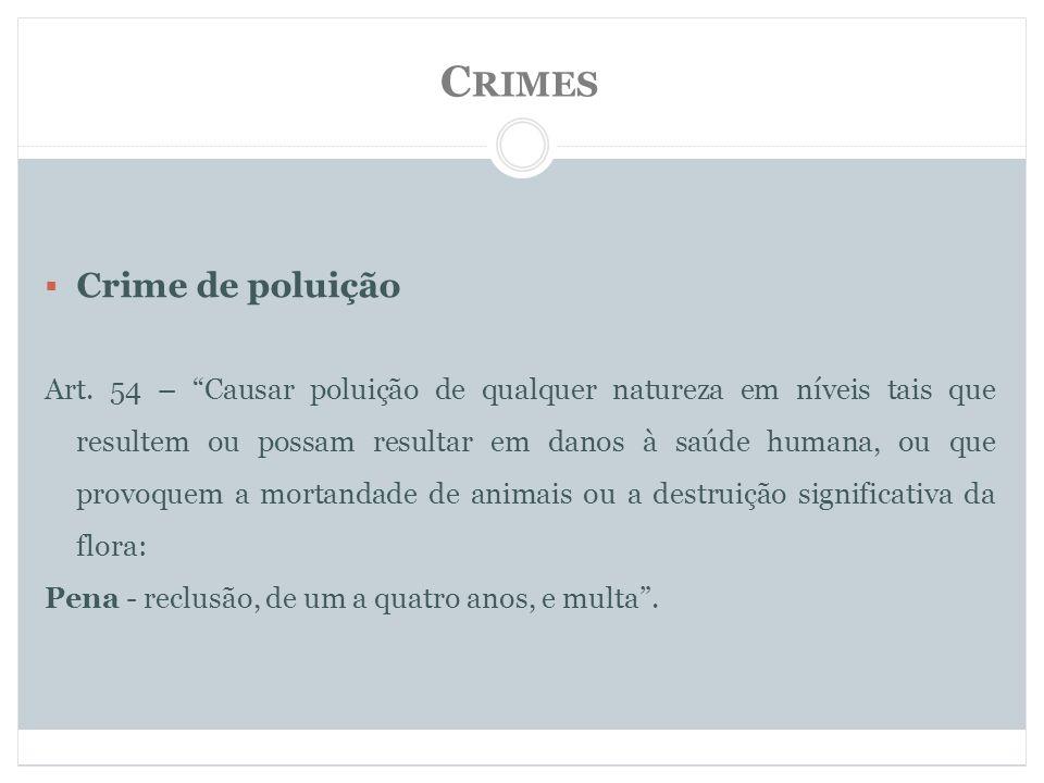 C RIMES Crime de poluição Art.