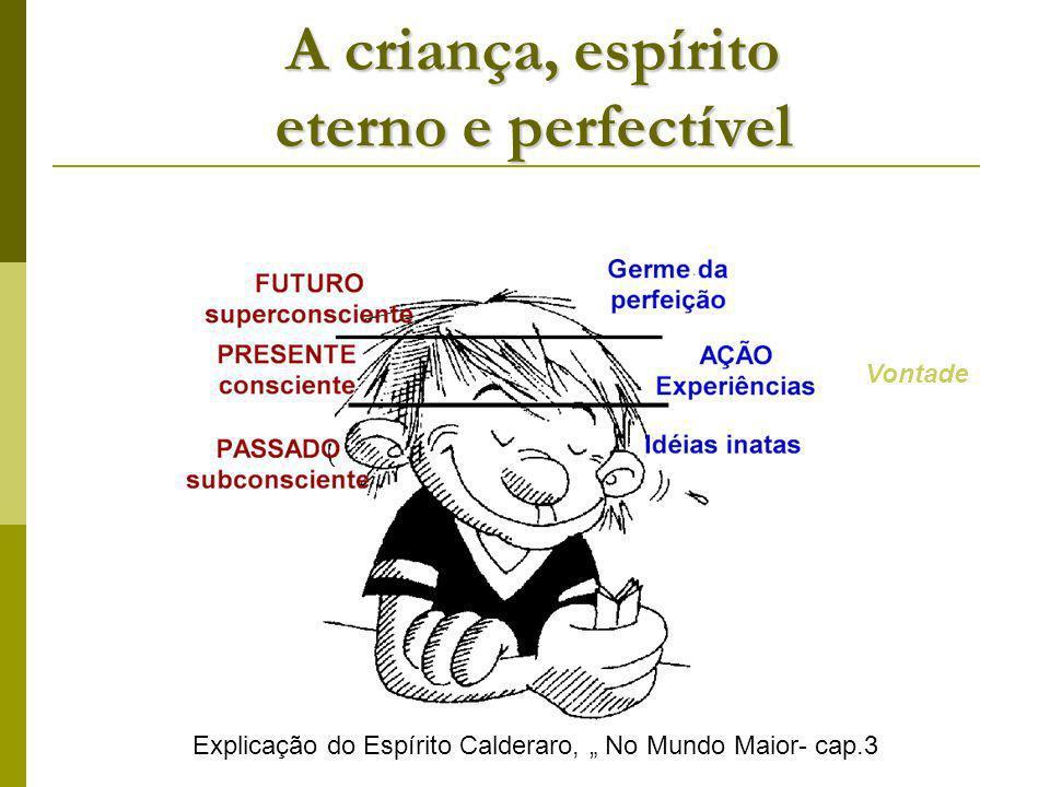 A criança, espírito eterno e perfectível Explicação do Espírito Calderaro, No Mundo Maior- cap.3 Vontade