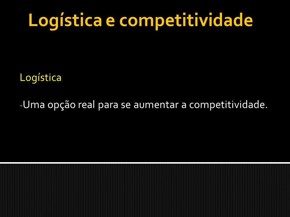 Logística - Uma opção real para se aumentar a competitividade. Logística e competitividade