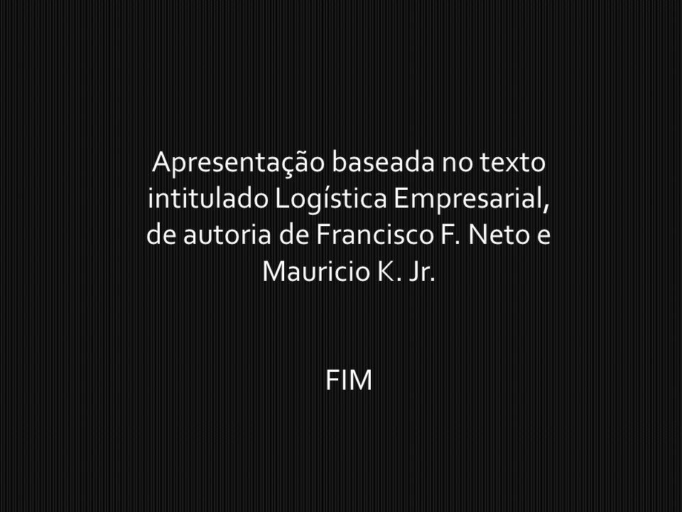 Apresentação baseada no texto intitulado Logística Empresarial, de autoria de Francisco F. Neto e Mauricio K. Jr. FIM