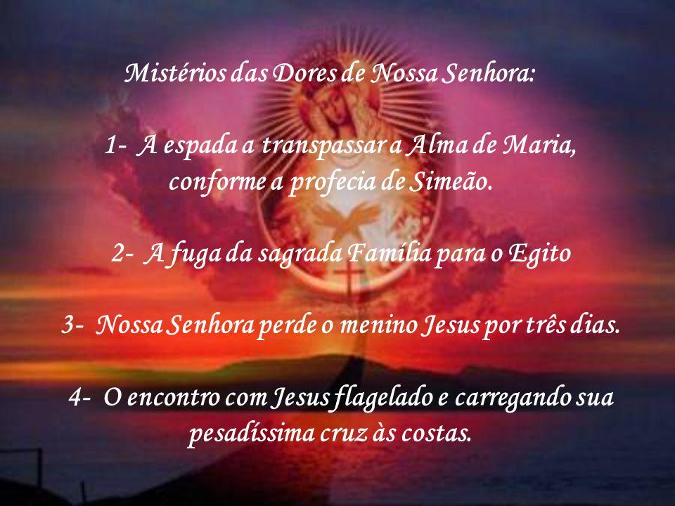 Terço das Lágrimas de sangue de Nossa Senhora Rosa Mística Este terço deve ser meditado nas sete dores de Nossa Senhora. É um terço de intercessão ond