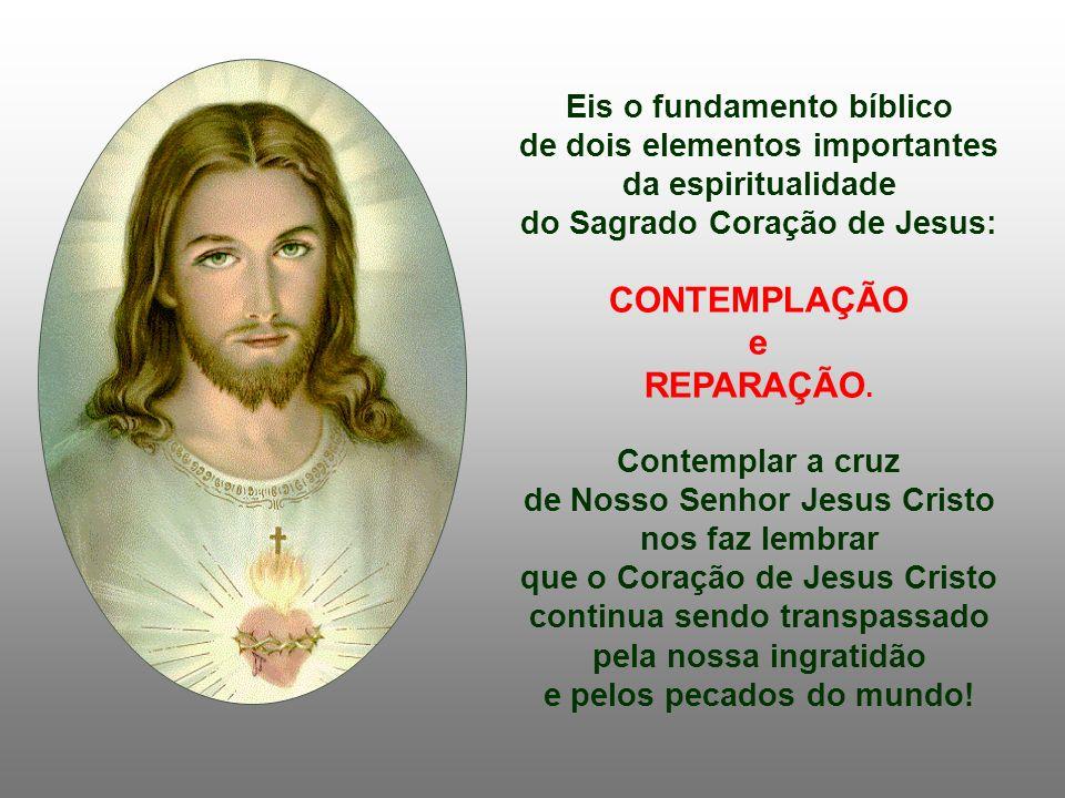 Eis o fundamento bíblico de dois elementos importantes da espiritualidade do Sagrado Coração de Jesus: CONTEMPLAÇÃO e REPARAÇÃO.