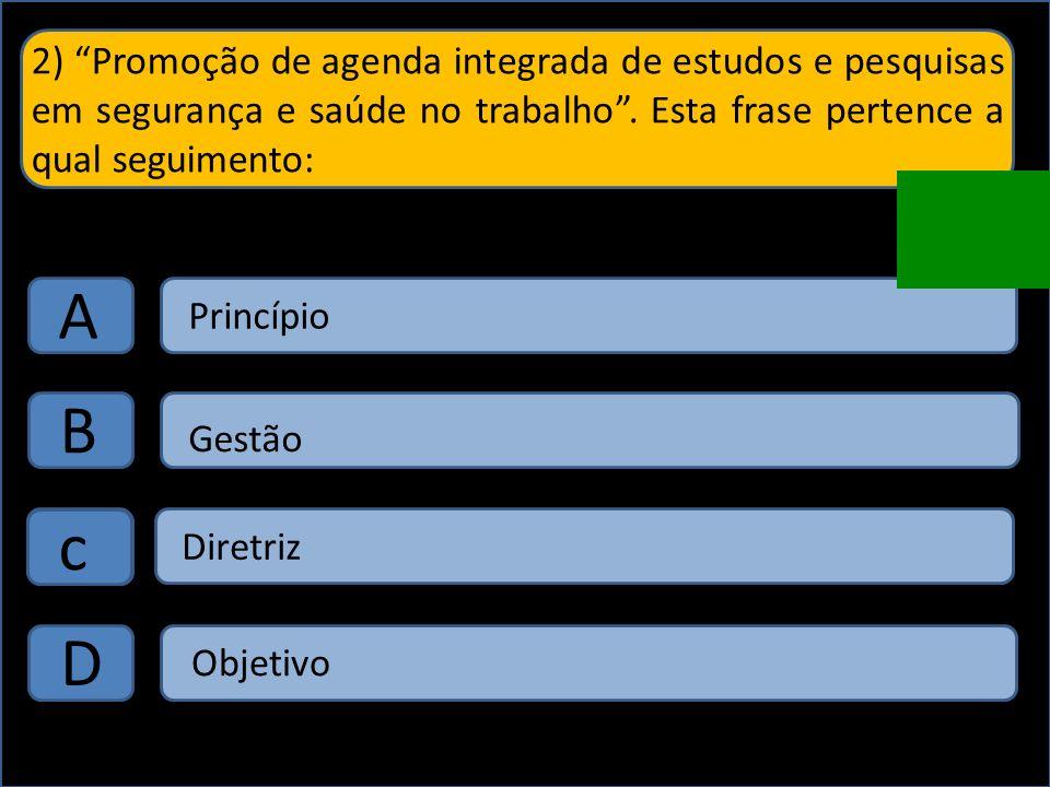 A PNSST tem por princípios: A B C D Universalidade Prevenção Integralidade Diálogos sociais