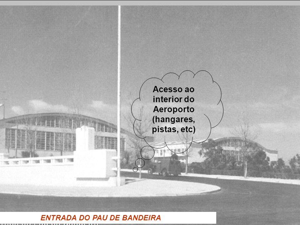 ENTRADA DO PAU DE BANDEIRA Acesso ao interior do Aeroporto (hangares, pistas, etc)