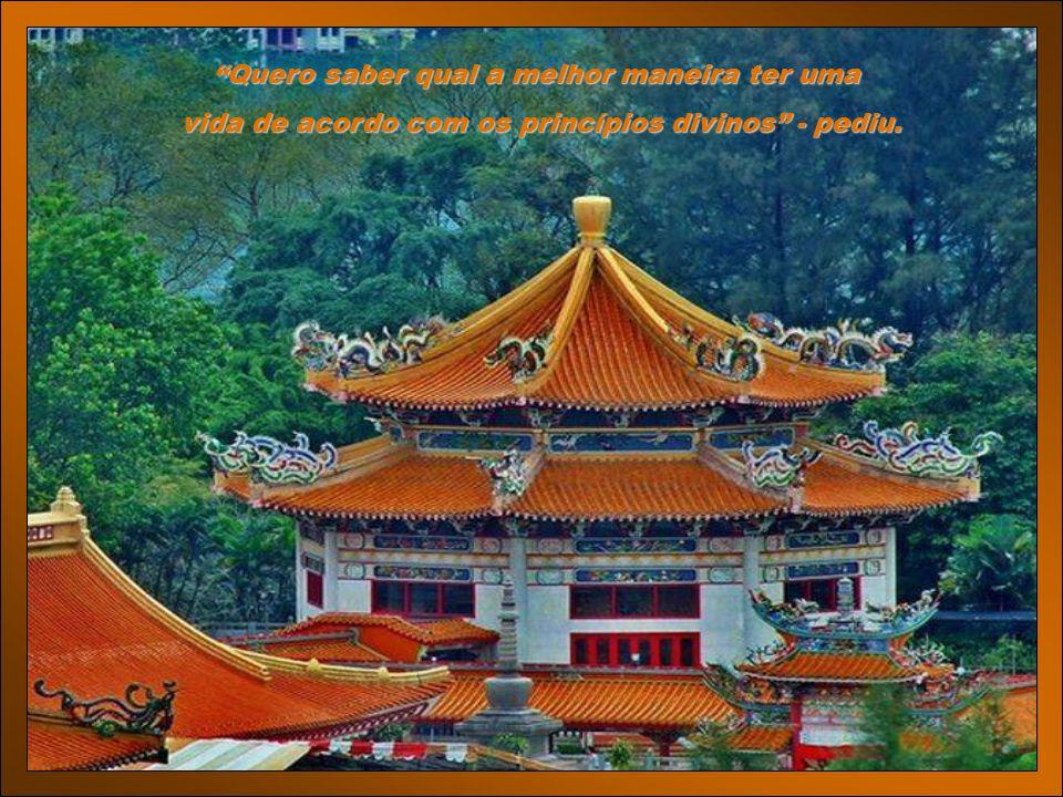 SERVINDO A DEUS O monge Chu Lai descansava perto de um riacho, quando o jovem chegou.