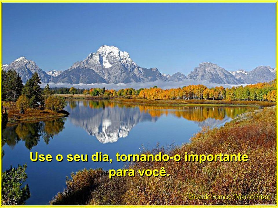 Use o seu dia, tornando-o importante para você. Use o seu dia, tornando-o importante para você.