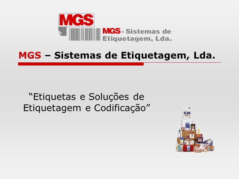 MGS – Sistemas de Etiquetagem, Lda. Etiquetas e Soluções de Etiquetagem e Codificação