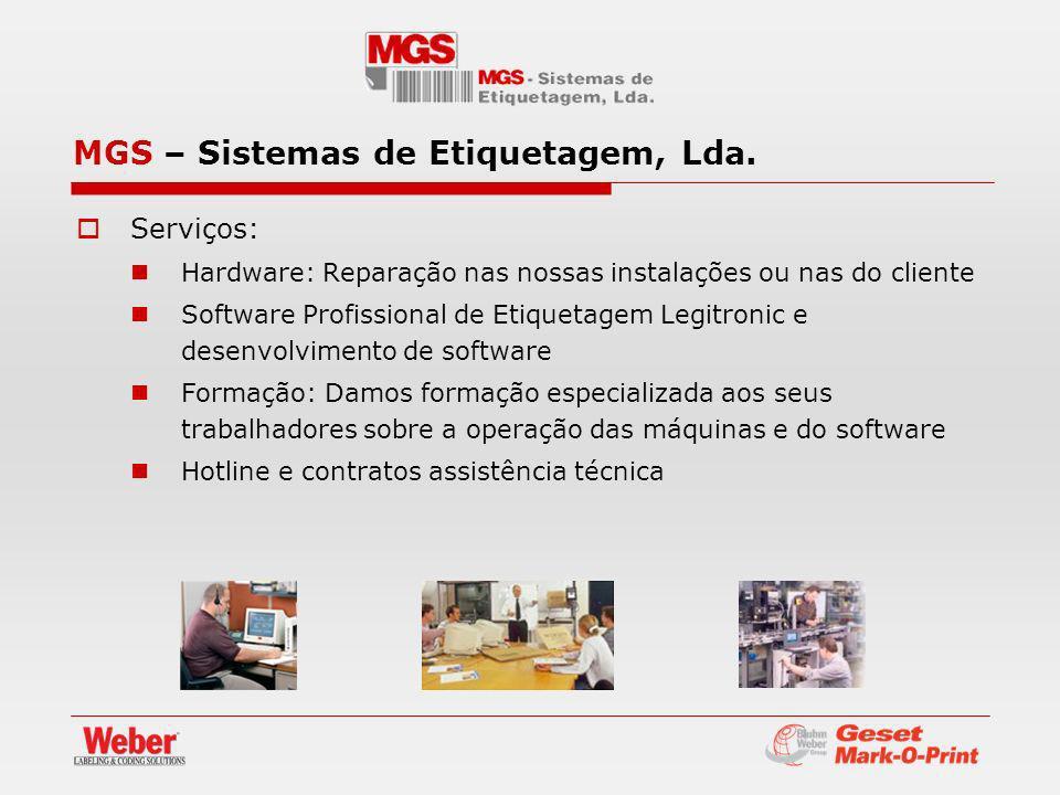Serviços: Hardware: Reparação nas nossas instalações ou nas do cliente Software Profissional de Etiquetagem Legitronic e desenvolvimento de software F