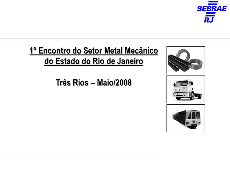 1º Encontro do Setor Metal Mecânico do Estado do Rio de Janeiro Três Rios – Maio/2008