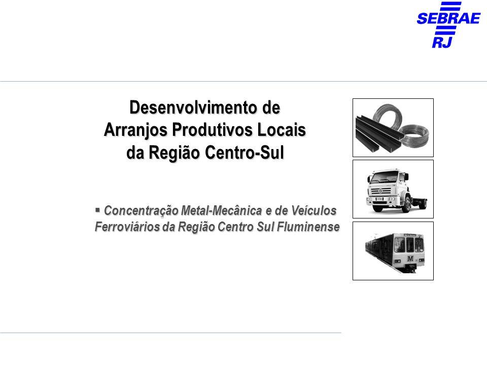 Desenvolvimento de Arranjos Produtivos Locais da Região Centro-Sul Concentração Metal-Mecânica e de Veículos Ferroviários da Região Centro Sul Flumine