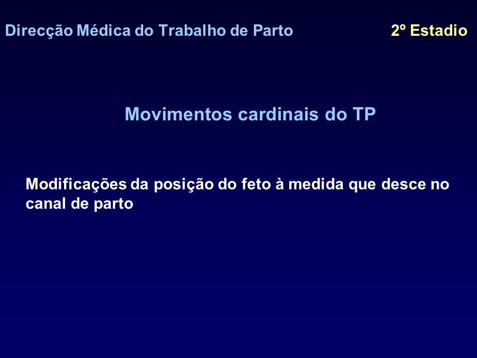 Direcção Médica do Trabalho de Parto 2º Estadio Movimentos cardinais do TP – 1º ENCRAVAMENTO