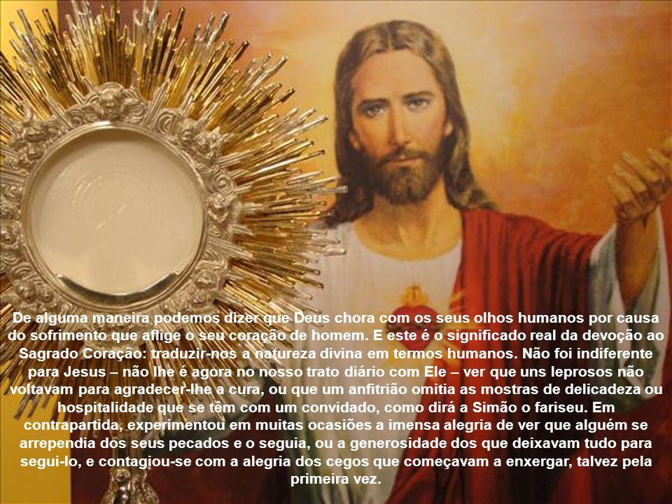 O CORAÇÃO DE JESUS amou como nenhum outro; experimentou alegria e tristeza, compaixão e pena. Os Evangelistas anotam com muita frequência: Tinha compa