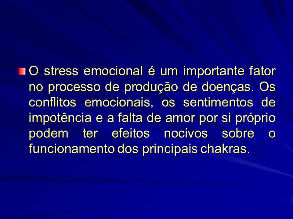 Como os chakras fornecem energia sutil aos diversos órgãos do corpo, os bloqueios e conflitos emocionais podem resultar num fluxo energético anormal p