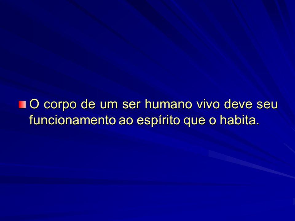 O corpo de um ser humano vivo deve seu funcionamento ao espírito que o habita.