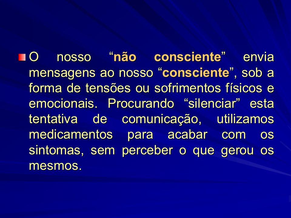 O nosso não consciente envia mensagens ao nosso consciente, sob a forma de tensões ou sofrimentos físicos e emocionais.