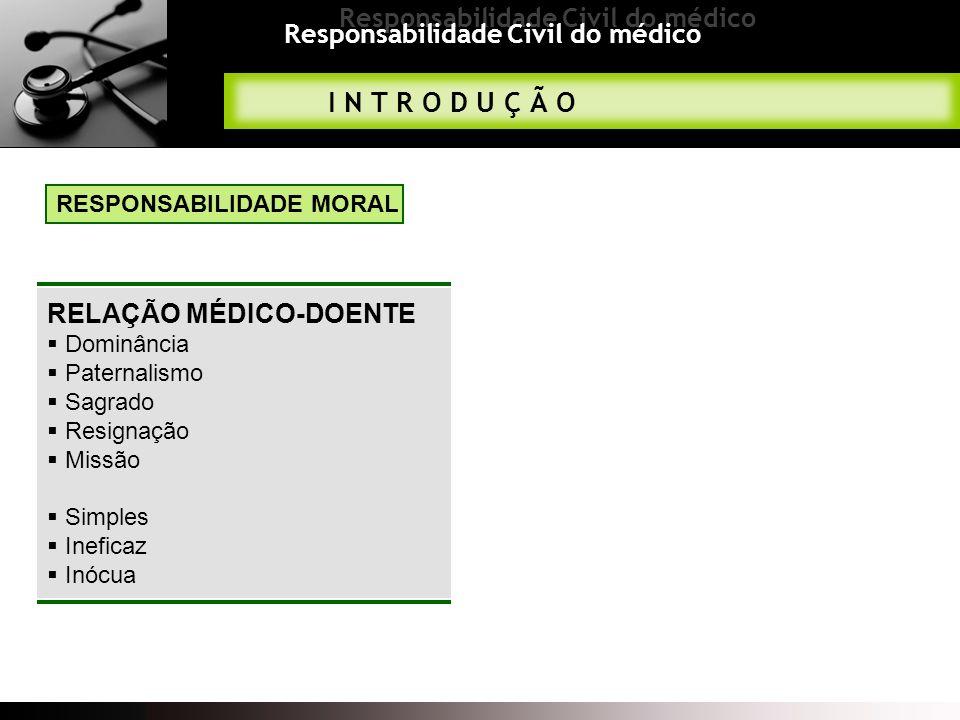 Responsabilidade Civil do médico Obrigação de meios e não obrigação de resultados Leges Artis Esclarecimento do doente Consentimento do doente Falta A NATUREZA DA OBRIGAÇÃO MÉDICA