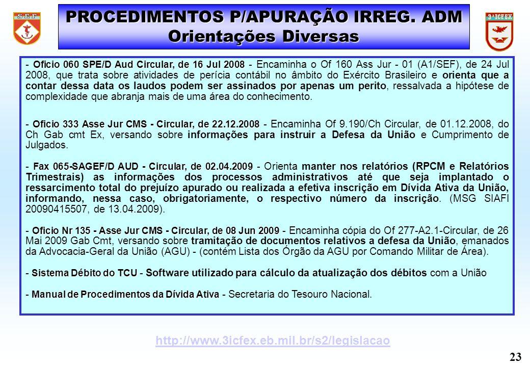 Oficio 060 SPE/D Aud Circular, de 16 Jul 2008 - Oficio 060 SPE/D Aud Circular, de 16 Jul 2008 - Encaminha o Of 160 Ass Jur - 01 (A1/SEF), de 24 Jul 20