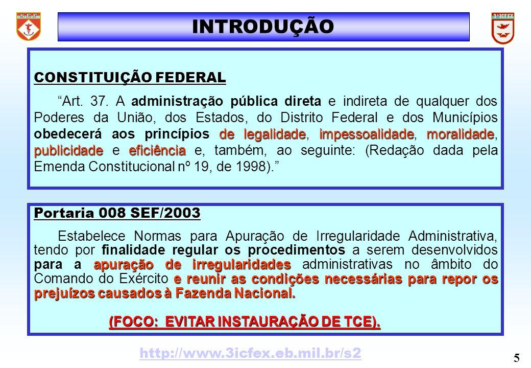 SISTEMAS DE CONTROLE Organograma 6 http://www.3icfex.eb.mil.br/s2 SECRETARIA DE ECONOMIA E FIANÇAS